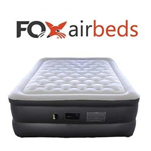 Best Inflatable Plush High Rise Air Mattress Queen Size Two Way Pump Fox Airbeds