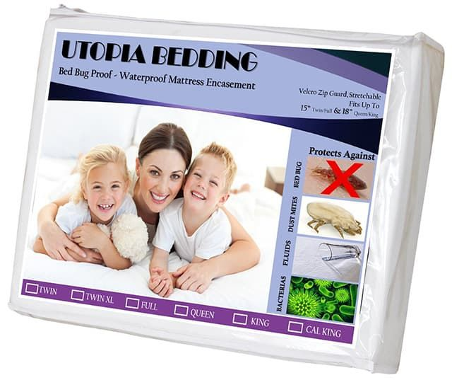 Utopia-Zippered-Bed-Bug-Proof-Mattress-Encasement