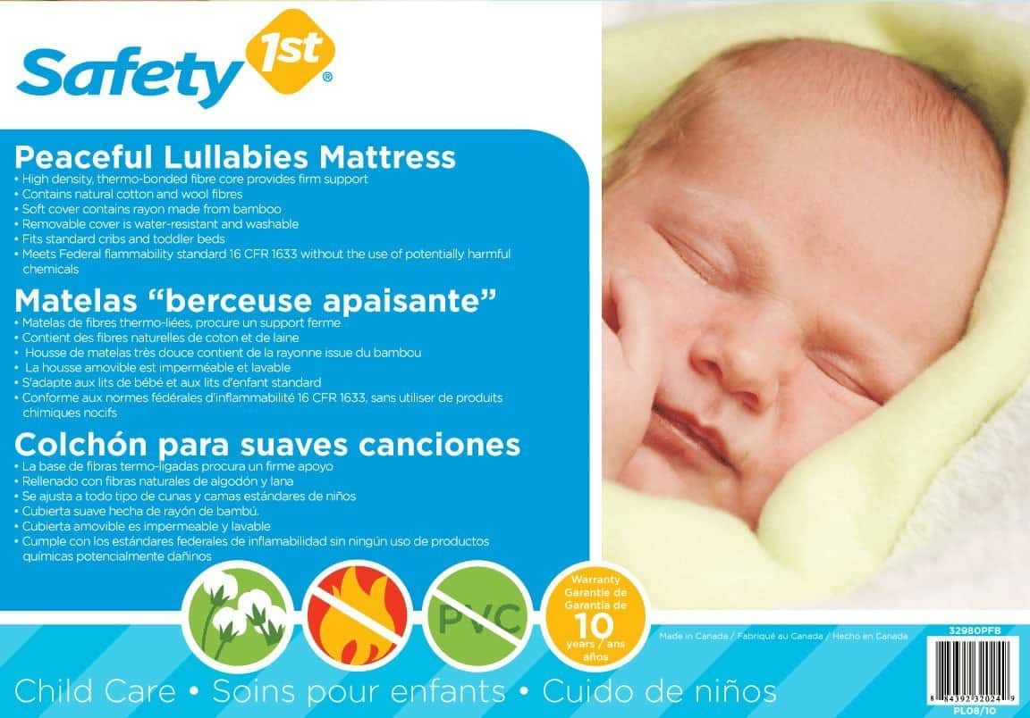 safety 1st peaceful lullabies crib mattress review | the sleep judge