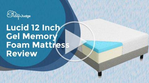 Lucid 12 Inch Gel Memory Foam Mattress Review Video