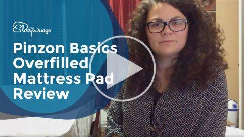 Pinzon Basics Overfilled Mattress Pad Video Review