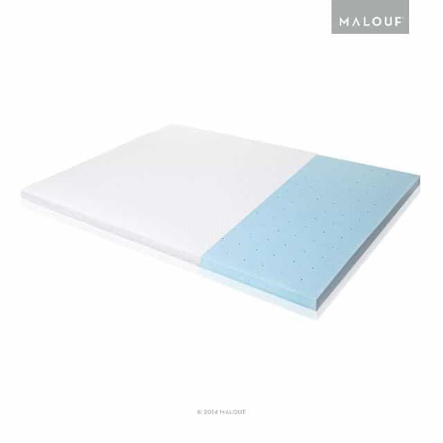 "Isolus 2.5"" Gel Foam Mattress Topper"
