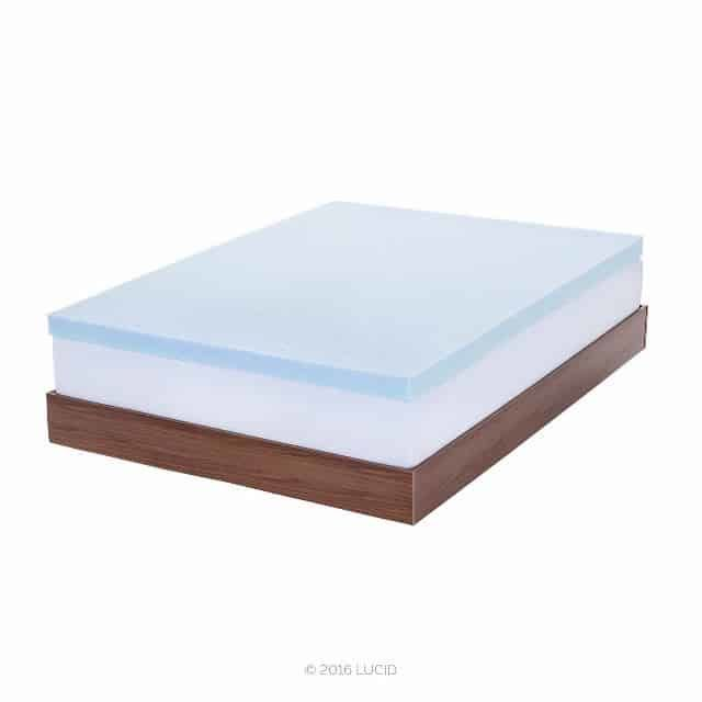lucid 2u201c gel infused ventilated memory foam mattress topper