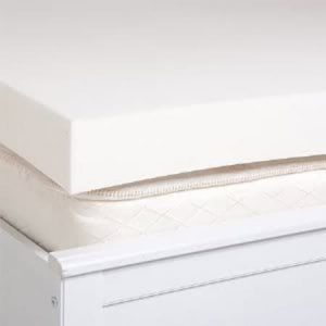 Picture of some polyurethane foam pads stacked ontop of each other that's white