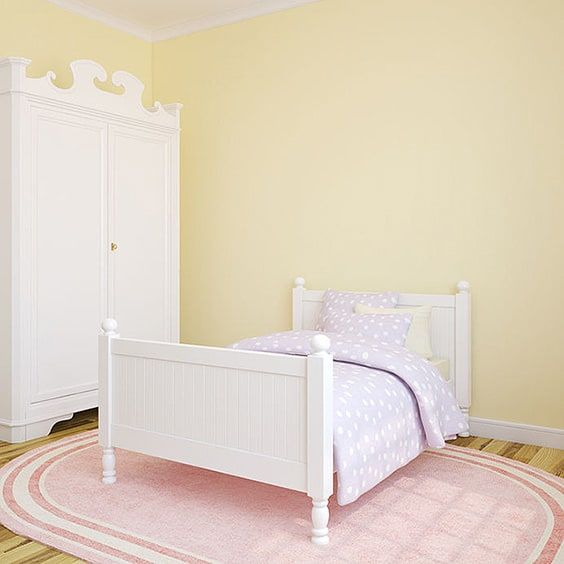 This Cute Little Pink Rug Is Perfect For A Little Girlu0027s Bedroom, Such As  This One. It Gives Them A Comfortable Little Sitting Spot Next To Their Bed  For ...