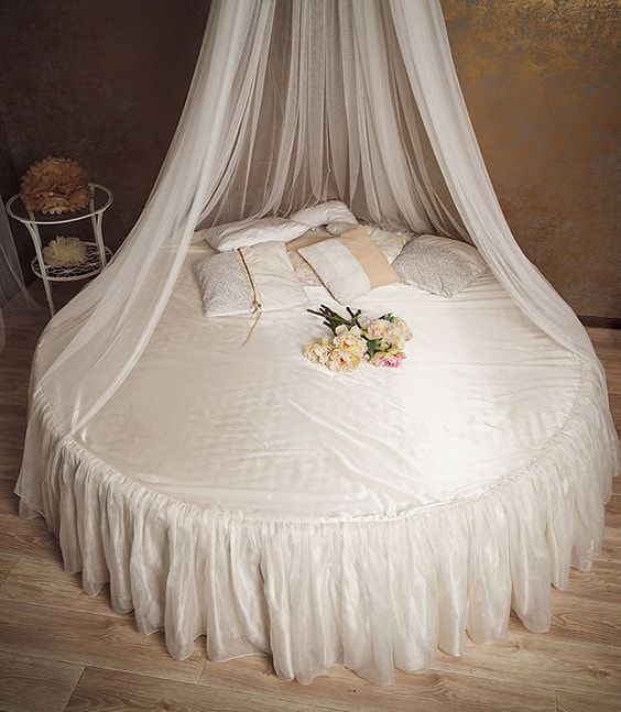 There is nothing dreamier than a round canopy bed completely draped in white. Even though circular shapes are not commonly seen in bedrooms this model will ... & 39 Canopy Bed Design Ideas