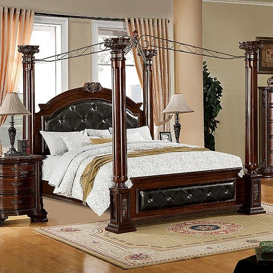 Faux leather Luxury & 39 Canopy Bed Design Ideas