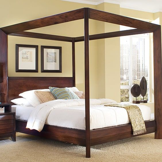3. Warm Browns & 39 Canopy Bed Design Ideas | The Sleep Judge