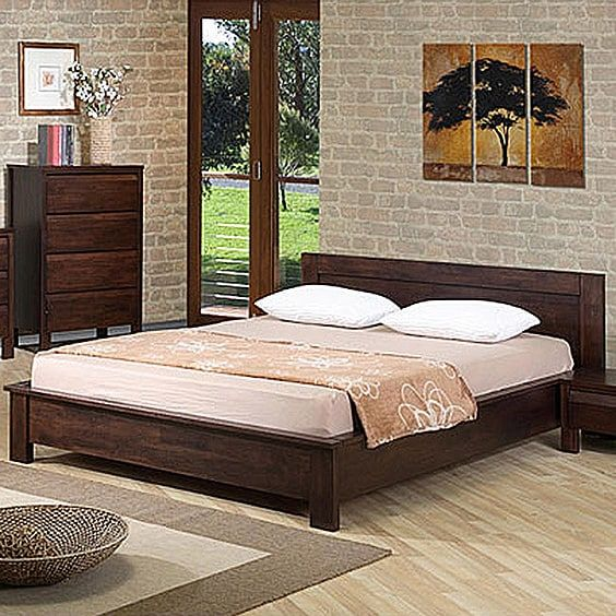 Platform Bed Bedroom Ideas Part - 21: 3. Warm And Simple