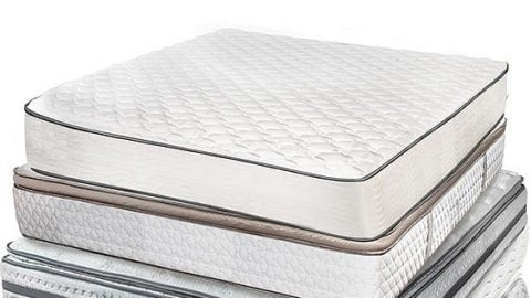 Picture of different mattresses stacked on-top of each other