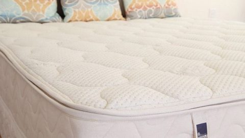 Side shot of the spindle mattress that's SUPER firm
