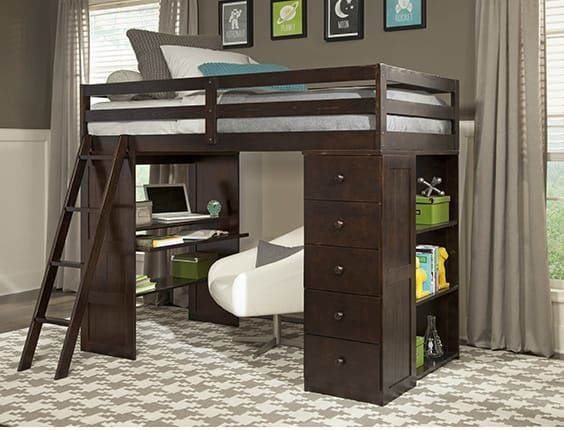 Tripple Bunk Bed With Desk