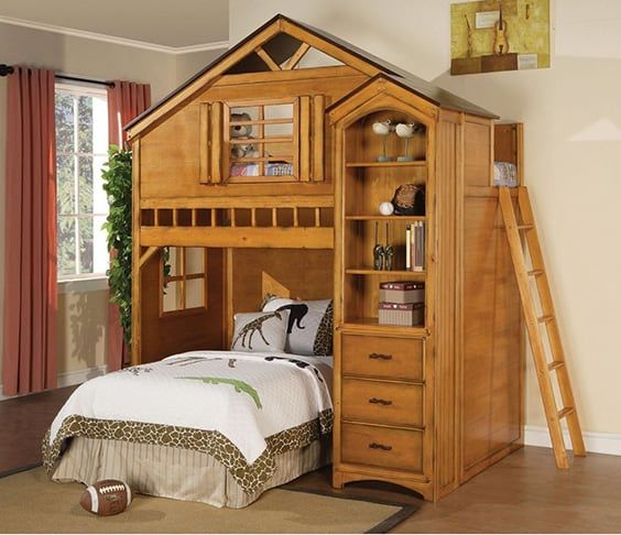 Make A Single Bedroom Special With A Super Stylish: 17 Super Cool Types Of Bunk Beds