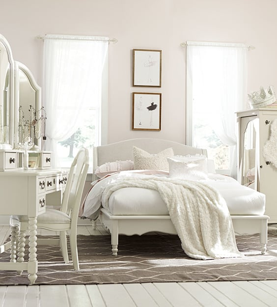 All White Kids Bedroom Set