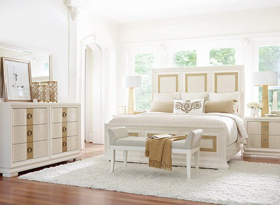 Beige Accented Bedroom Set