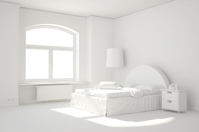 3. Minimal White Bedroom