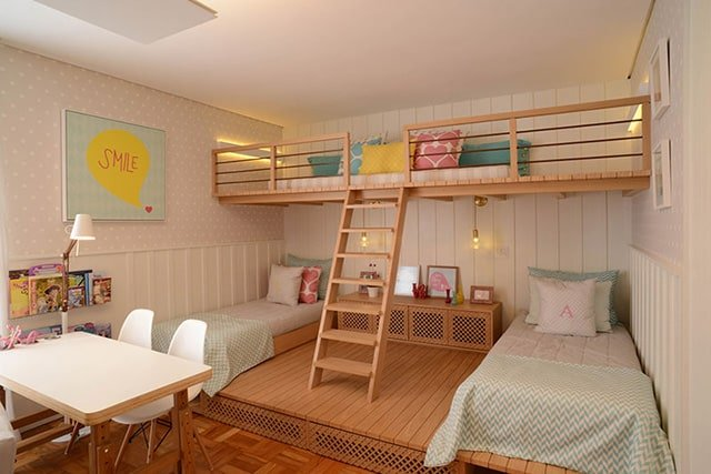 35 mezzanine bedroom ideas the sleep judge for Cuarto para tres ninas