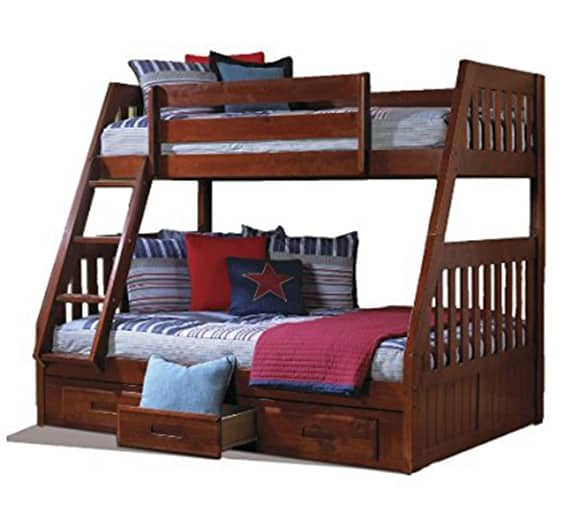 This Twin Over Full Size Bunk Bed