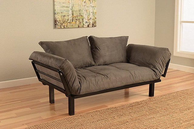 Best futon reviews 2018 the sleep judge for Sofa bed dimensions unfolded