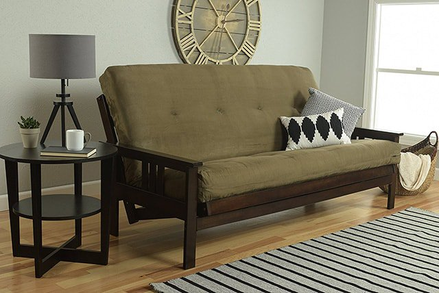 This Attractive Wooden Frame Futon