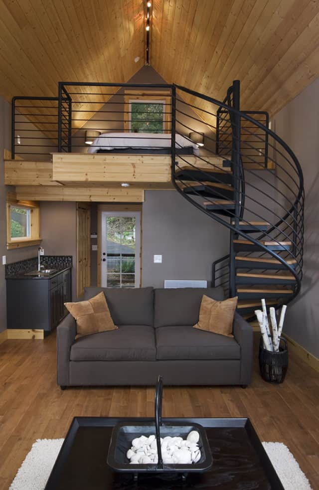 Loft With Spiral Staircase