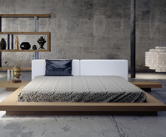what is a floating platform bed