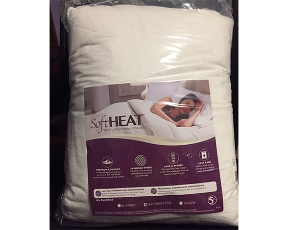 soft heat microplush top low voltage electric heated mattress pad