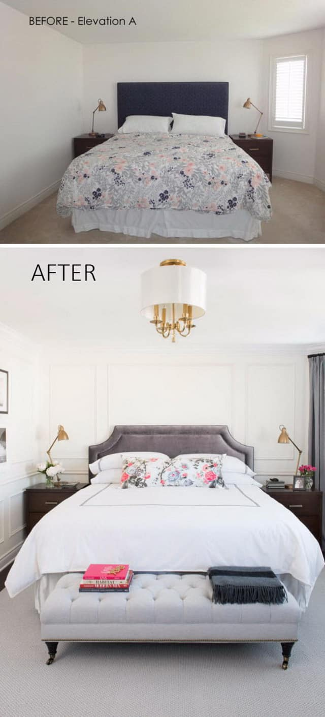 Elegant Learn More. In This Tiny Bedroom Makeover ...