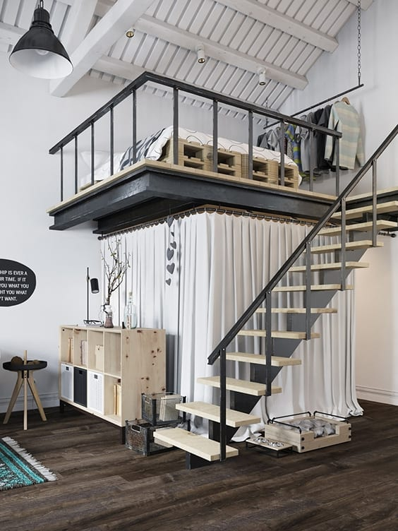 32 Highly Creative And Cool Floor Designs For Your Home: 35 Mezzanine Bedroom Ideas