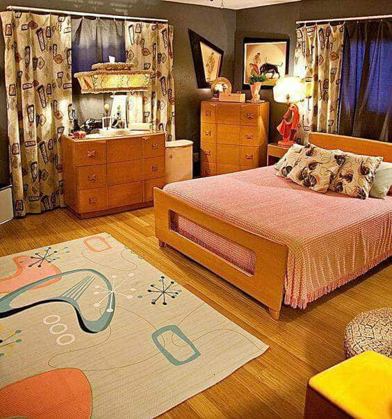 18 Retro Themed Bedroom Design Ideas The Sleep Judge