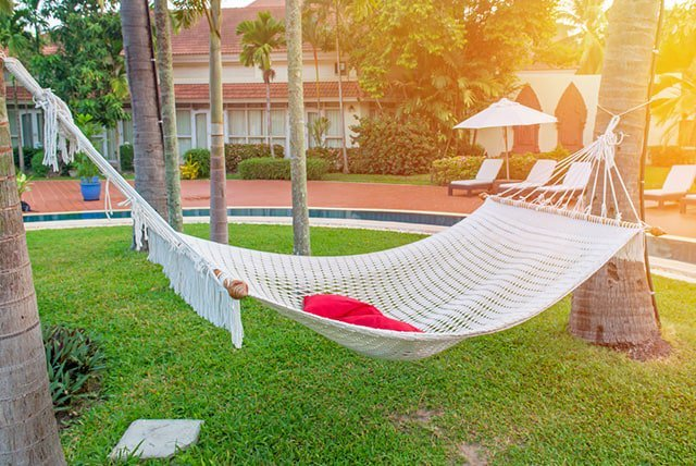 the sunken posts could be built into a wooden frame with a cohesive material situating the posts inside for a lack of movement  hammock vs bed  which is best for you   rh   thesleepjudge