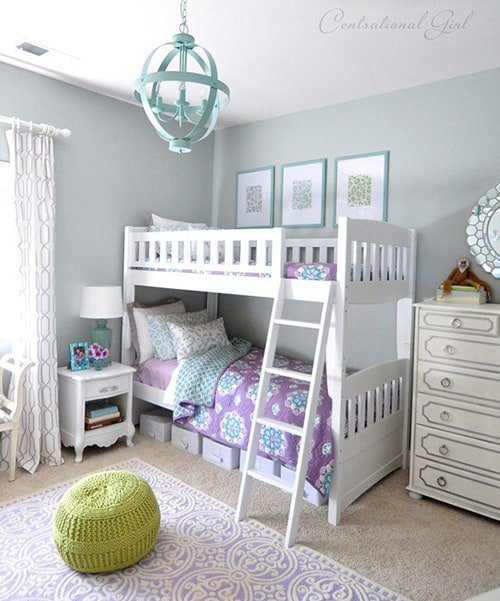 College Age Edroom Accent Wall: 28 Nifty Purple And Teal Bedroom Ideas