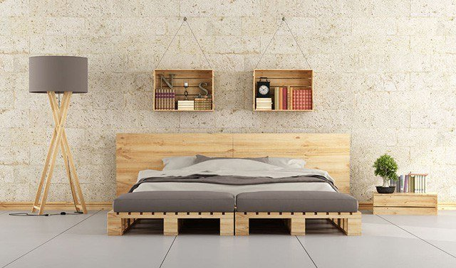 Whether Youu0027re Frugal Or Minimal, This Bedroom Is Perfect For You. The  Pallet Bed Is Beyond Easy To Make. All It Takes Are A Few Pallets And Some  Other Wood ...