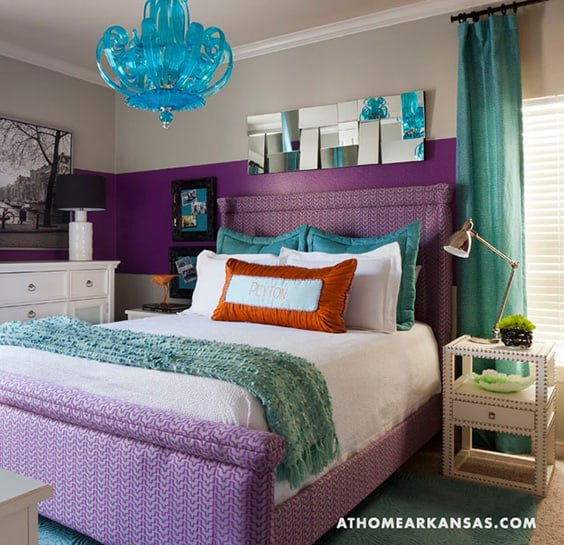 Beau Purple Patterns U0026 Solid Teal