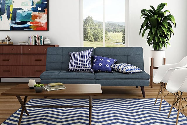 The Most Basic Description Of A Futon Is That It Looks Like Cheap Couch Folds Out Into An Uncomfortable Bed Thankfully Futons From Yesteryear Have
