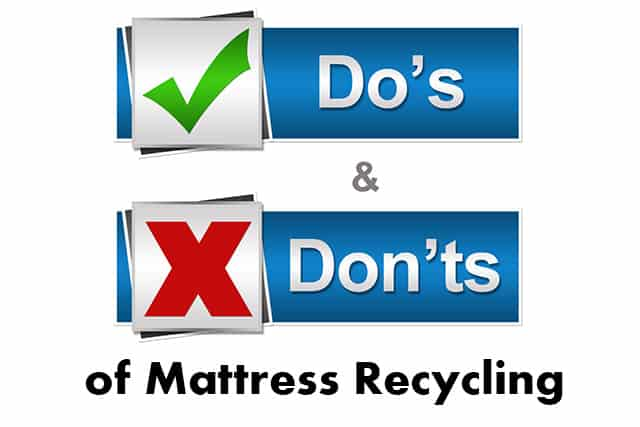 The Do's And Don'ts of Mattress Recycling In California