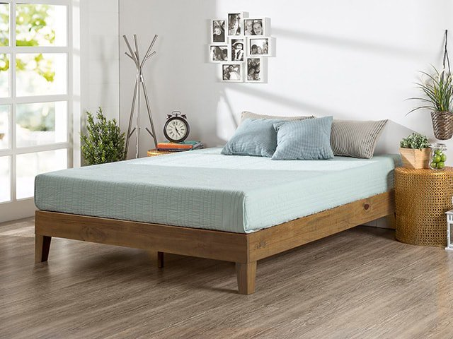 in short a platform bed is a simple frame made of various materials that offers support for anytype of mattress without the need for a box spring