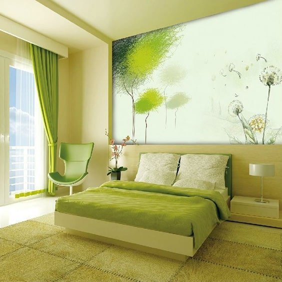 Lots Of Lime & 50 Of The Most Spectacular Green Bedroom Ideas | The Sleep Judge
