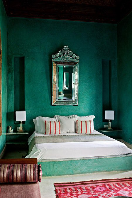 Elegant Romantic Bedrooms: 50 Of The Most Spectacular Green Bedroom Ideas