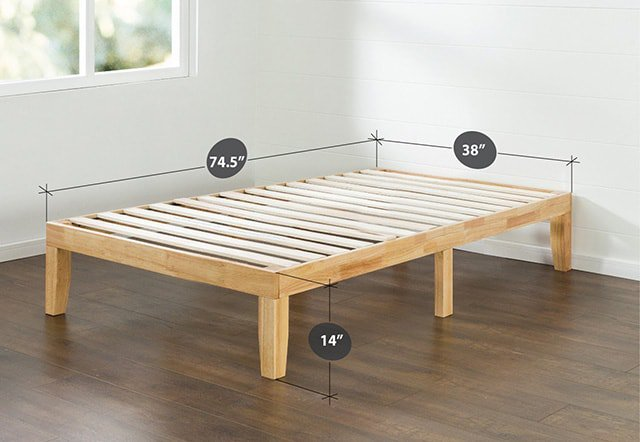 Platform bed vs panel bed acquiring the most for your for Height of platform bed