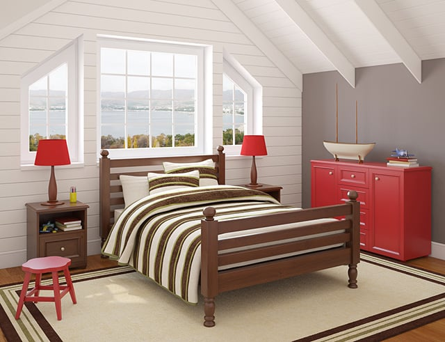 I Think That This Is A Really Fun Room Because Of The Combination Of  Colors. You Donu0027t Really See Brown And Red Mixed Together Unless Youu0027re  Going For A ...