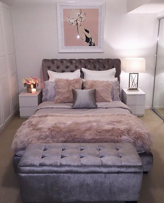 39 Amazing And Inspirational Glamour Bedroom Ideas