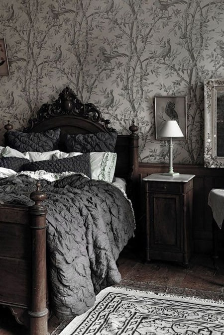 learn more - Dark Grey Bedroom