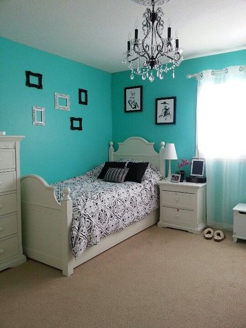 nice Teal Blue And Black Bedroom Part - 14: Black u0026 Blue