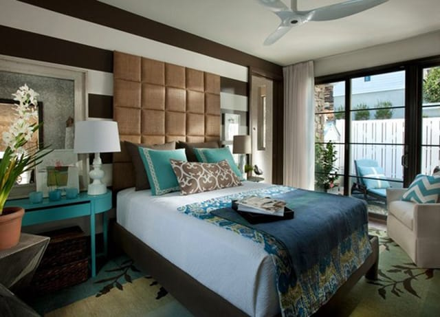 41 Unique and Awesome Turquoise Bedroom Designs - The Sleep ...