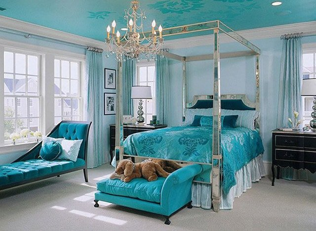 Turquoise And Silver Bedroom Ideas