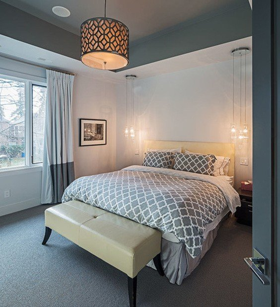 Bedroom Lighting Ideas: 30 Of The Best Bedroom Overhead Lighting Ideas: #17 Is
