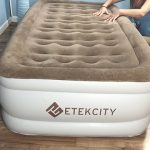 Etekcity Air Mattress Blow Up Elevated Raised Bed Inflatable Airbed