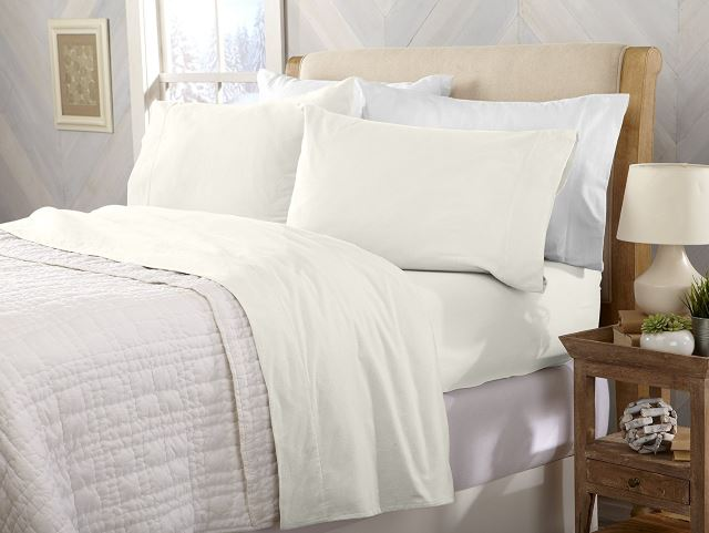Great Bay Home Extra Soft 100 Cotton Flannel Sheet Set