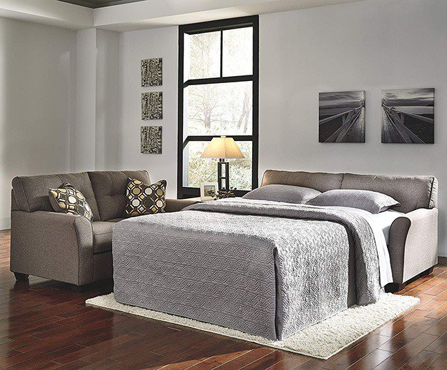 A Couch Bed So, the sofa bed became the perfect solution. Buy a couch or loveseat that  unfolds to reveal a mattress on a metal frame and guests could easily turn  your ...